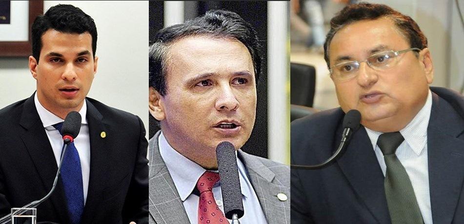 Deputado Irajá Abreu (PSD), Gaguim (PTN) e João Campos (PSC)