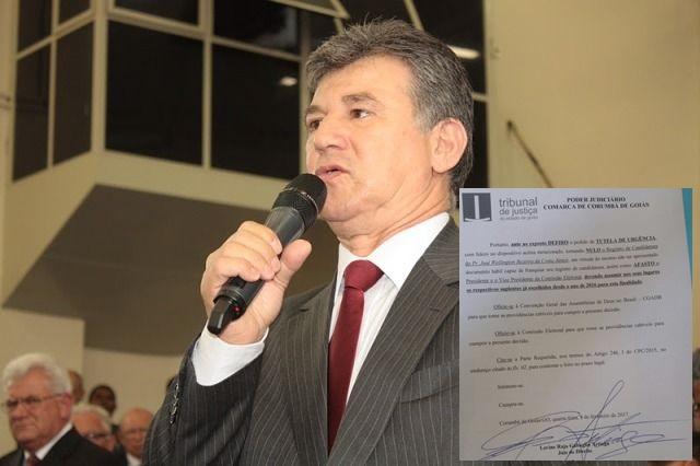 Pastor Wellington Júnior diz acreditar que pode derrubar liminar e realiza hoje reunião em Brasília