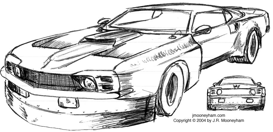 The Shadowfast Super Car Project Concept Sketches Part One