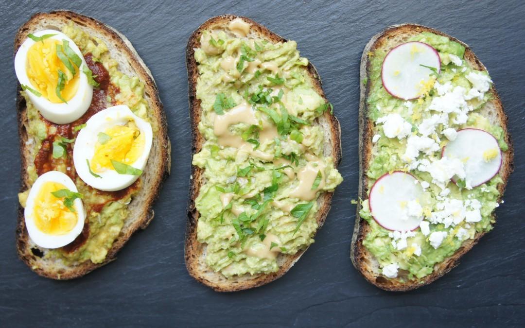 israeli inspired avocado toast