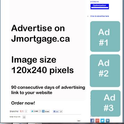 Advertise on Jmortgage.ca