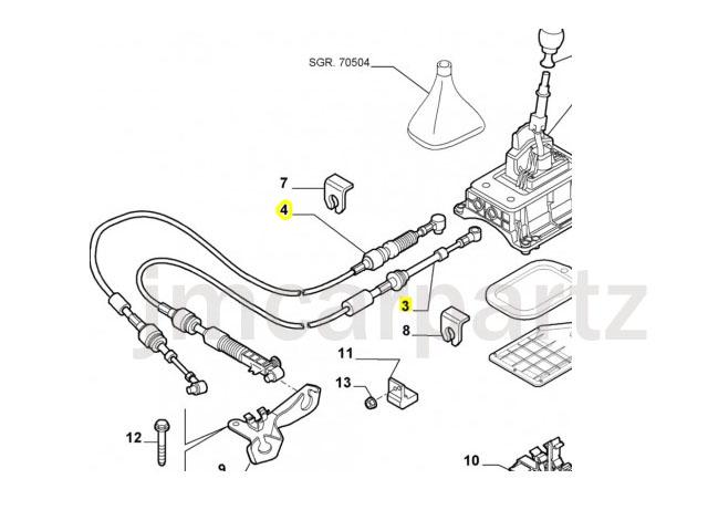 FIAT PUNTO 1.2 8V 16V MK2 MK2b Gear Box Change Cable Link