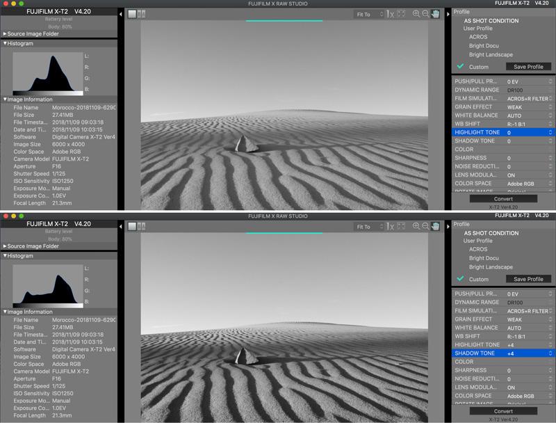 Fujifilm Camera Settings: Using The Highlight and Shadow Tones