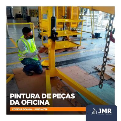 Atualização 9 - Pintura de peças da oficina da Codema Scania de Jundiaí SP