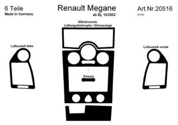 Innendekor Armaturenbrett/ Mittelkonsole Renault Megane