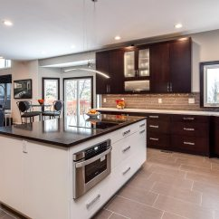Renovated Kitchen High Top Table And Chairs Sleek Contemporary Renovation Jm Bath In Lakewood Denver Co