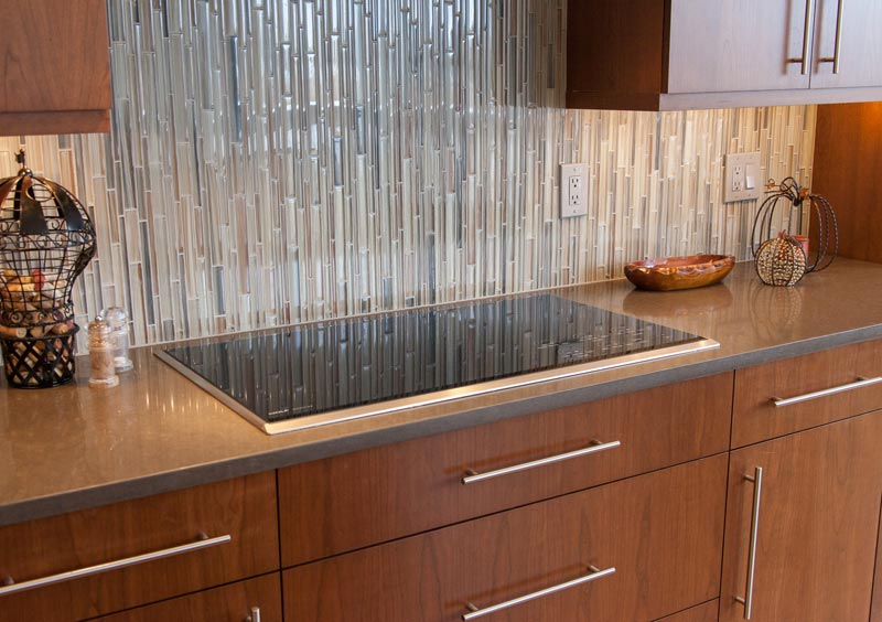 kitchen cupboard doors blue countertops contemporary remodel before after transformation