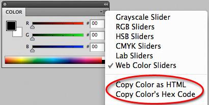 สี rgb ใน photoshop cs5