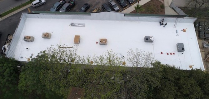commercial roof after JNC Roofing replacement