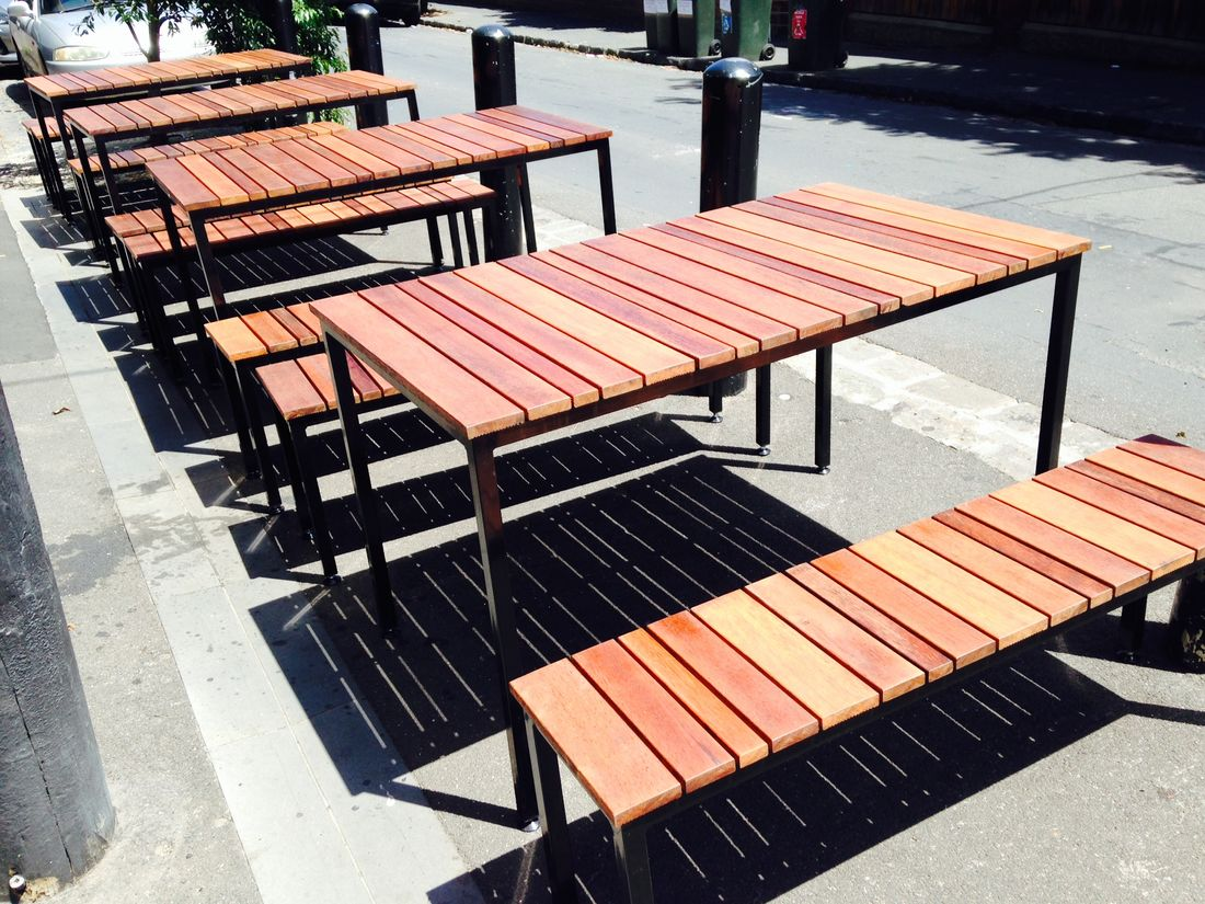 metal outdoor table and chairs australia folding concert lawn commercial furniture melbourne for cafes bars