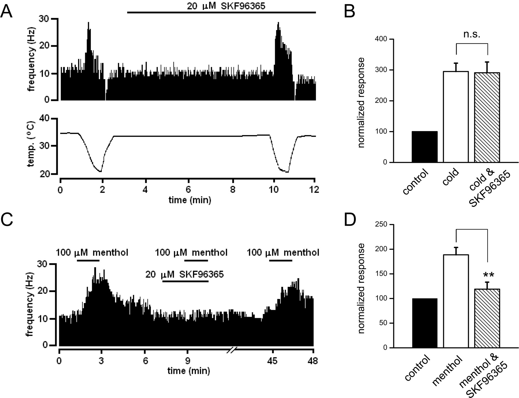 Contribution Of Trpm8 Channels To Cold Transduction In