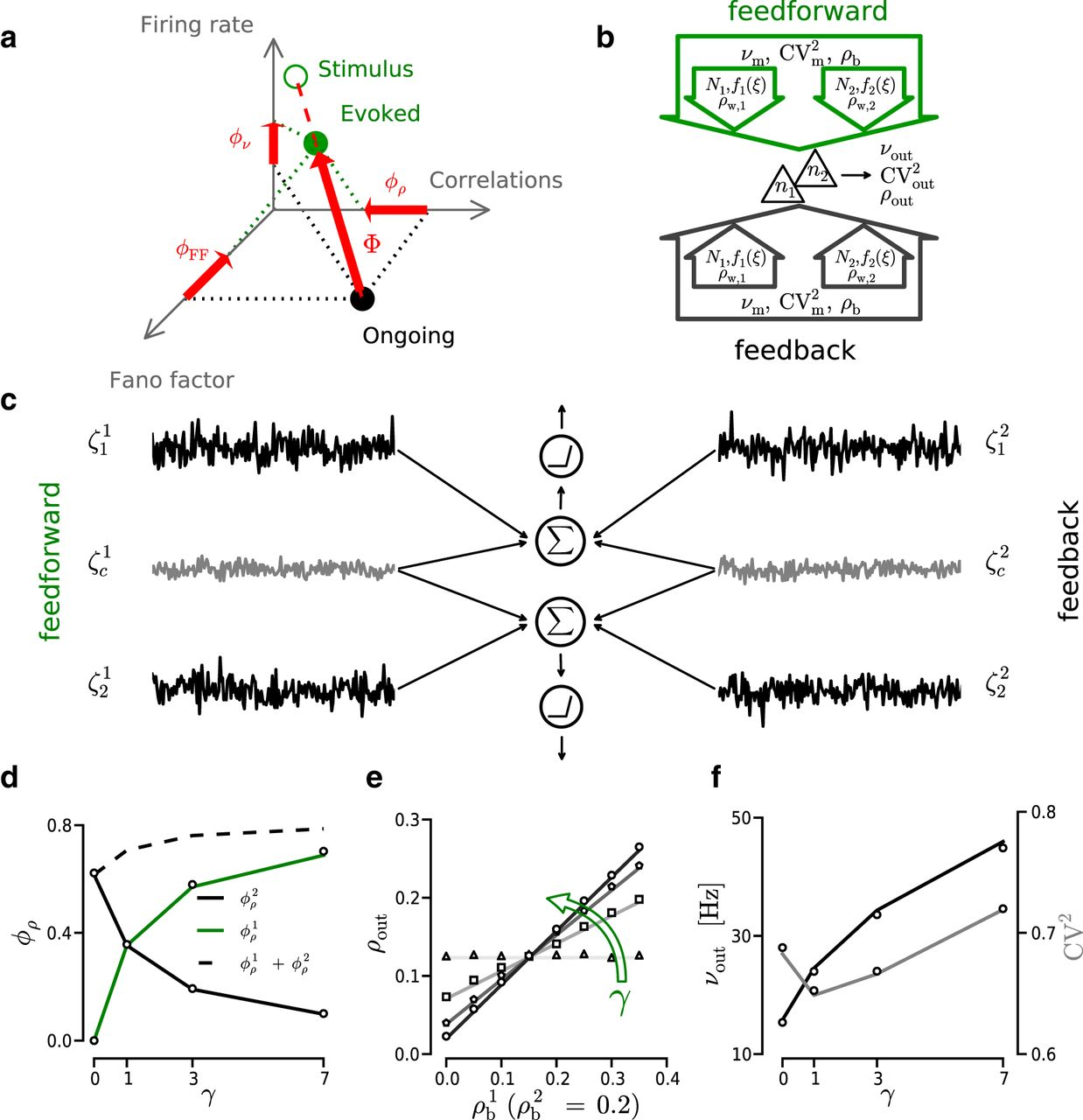 Role Of Input Correlations In Shaping The Variability And