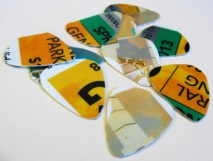 Picks made from parking passes | How to use parking passes and credit cards to make guitar picks.