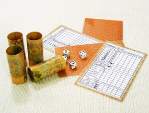 Finished Yahtzee Game | How to make a Yahtzee game from toilet paper tubes