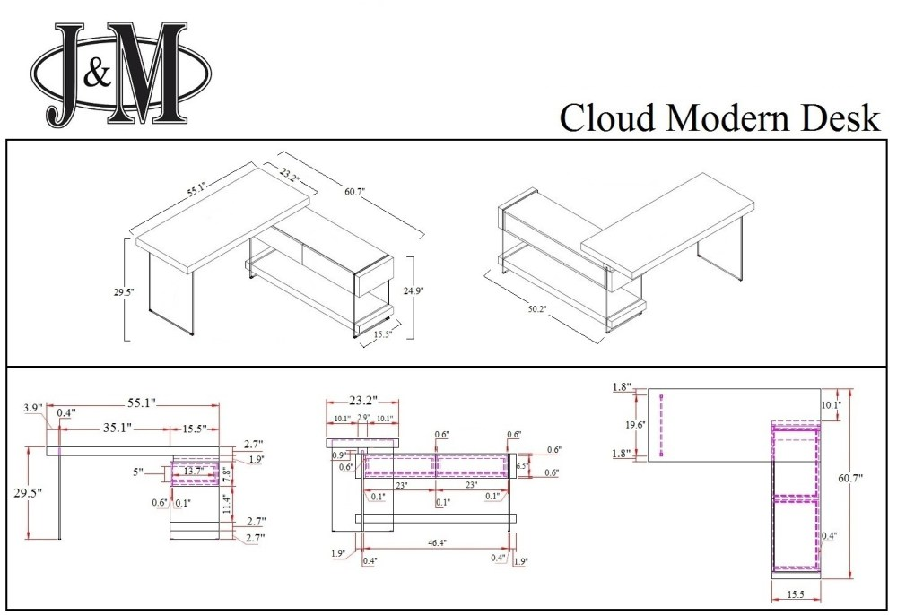 medium resolution of  cloud modern desk in high gloss