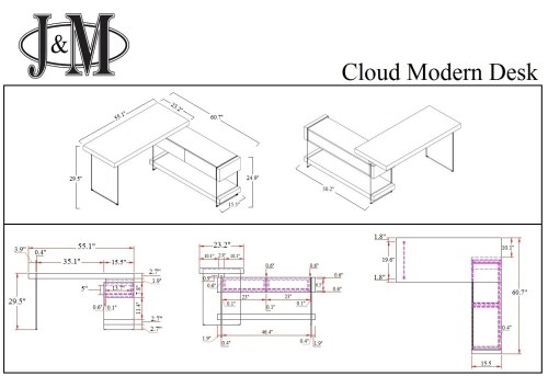small resolution of  cloud modern desk in high gloss