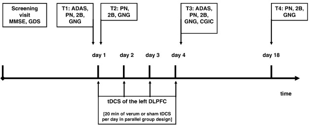 At-home tDCS of the left dorsolateral prefrontal cortex