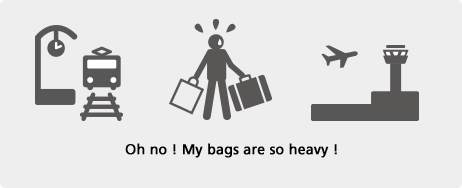 Oh no ! My bags are so heavy !