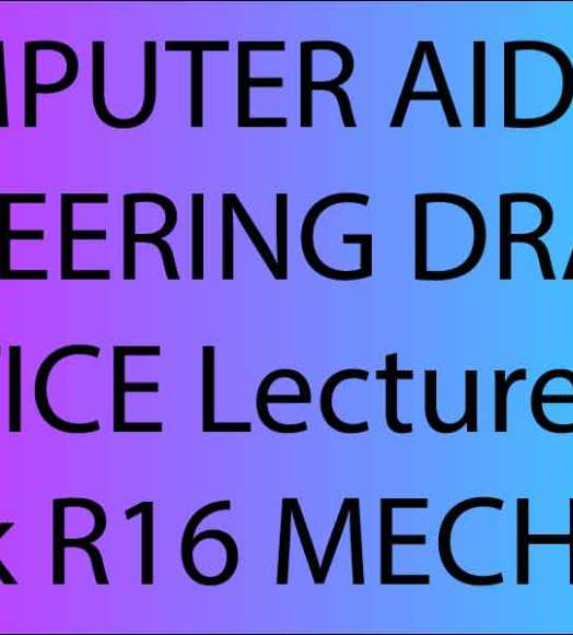 Computer aided engineering drawing notes