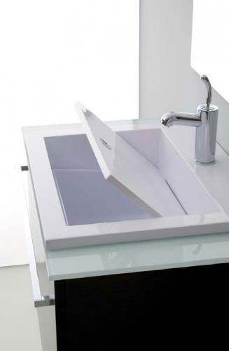 Lavatoi in ceramica Mobile bagno con lavabo Zeus 80