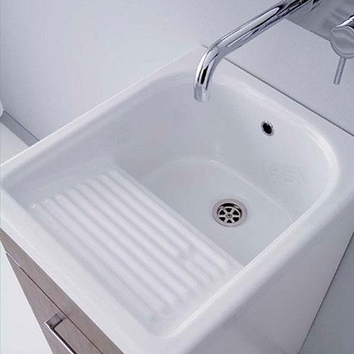 Lavatoi in ceramica Vasca lavapanni con mobile Mosella 44x52