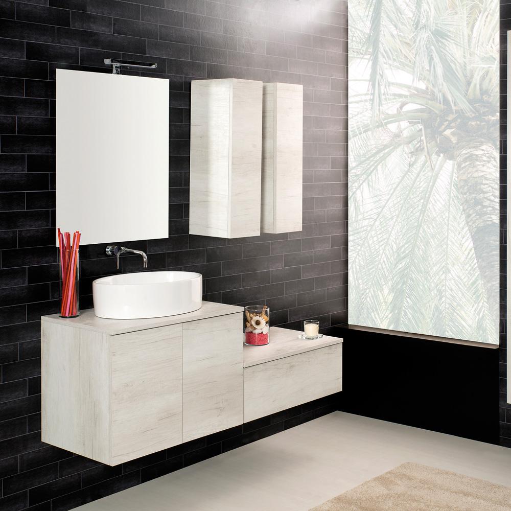 Arredo Moderno Arredo bagno Sospeso 70 Unika con lavabo