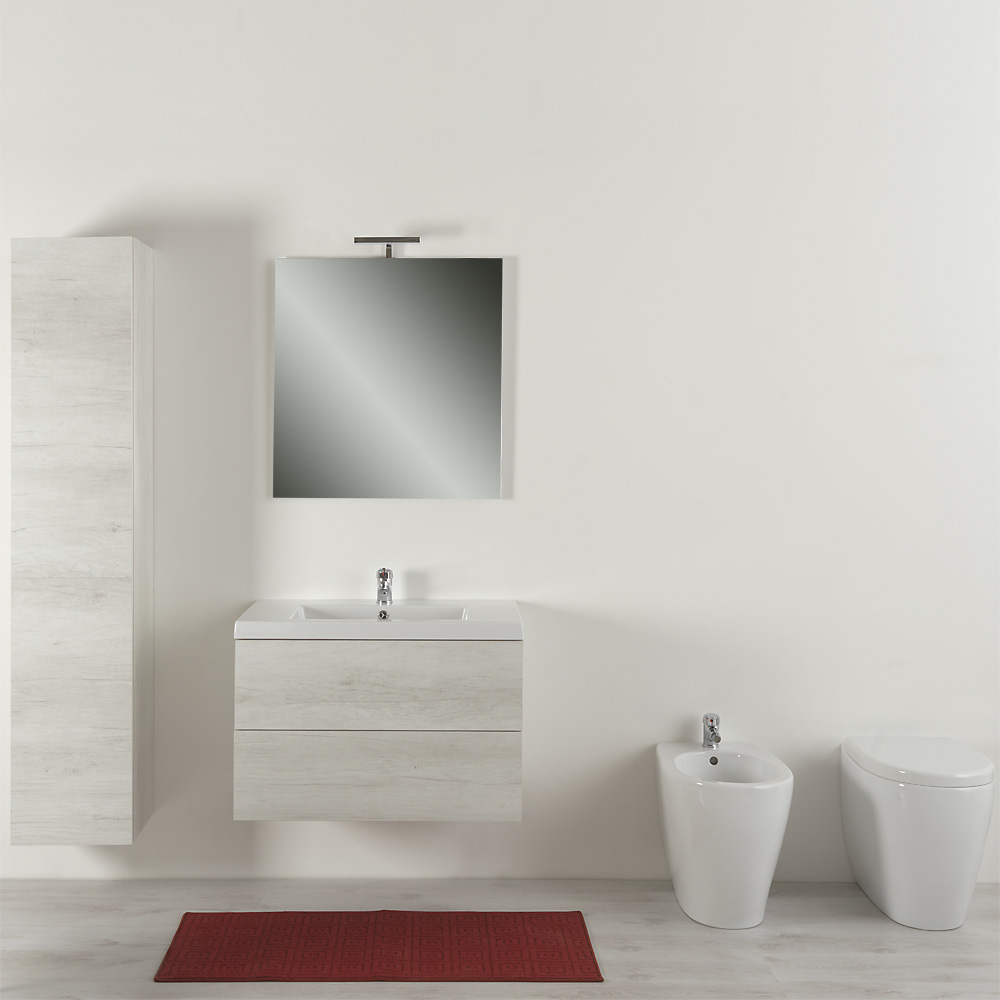 Bagno completo 100 cm moderno Unika