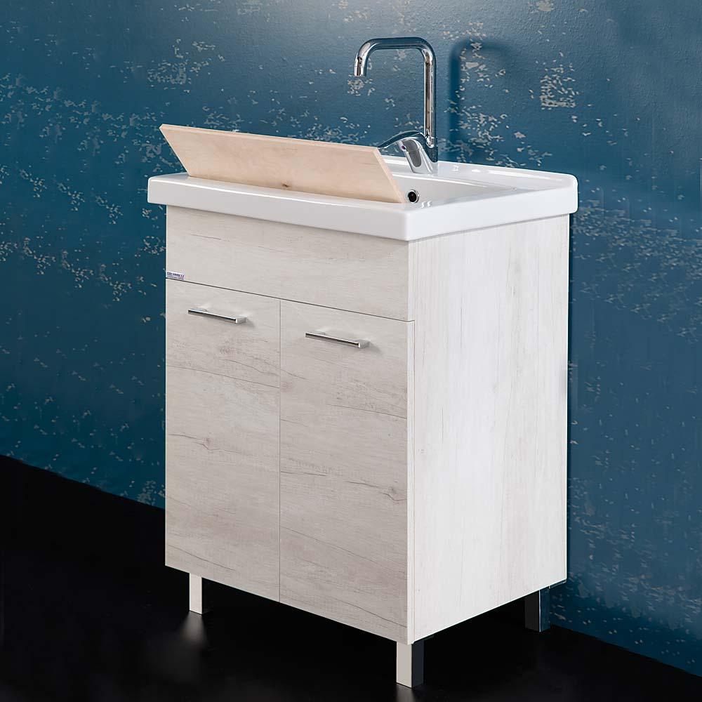Lavatoio 60x50 Unika con vasca in ceramica per lavanderia