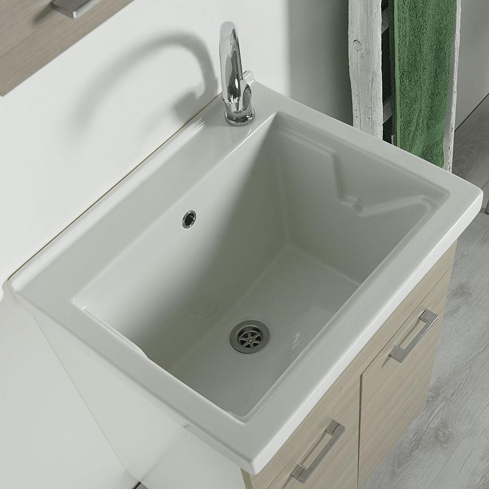 Vasca lavatoio in ceramica 60x50 Reno da incasso  JoBagnoit