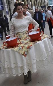 Tea table lady