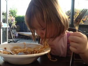 Eating like a proper Italian