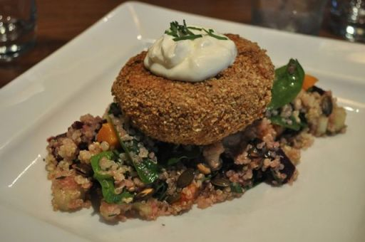 Salmon & Sweet Potato Fishcake with Quinoa Salad
