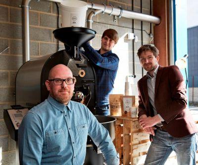 The Casa Espresso team, with their new roaster
