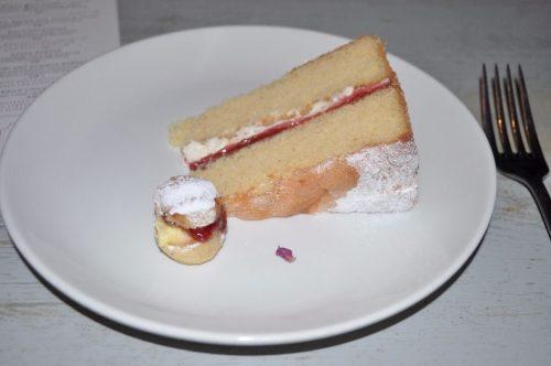 CAKE and teeny scones