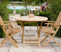 Teak Bristol Folding Table 90 Cm & 120