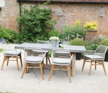 Roma Polished Concrete Outdoor Dining Table - Jo Alexander