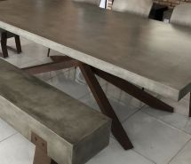 Mira Polished Concrete Table Outdoor Jo