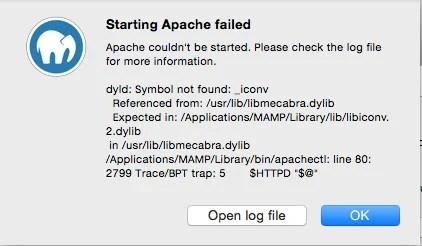 MAMP error Yosemite