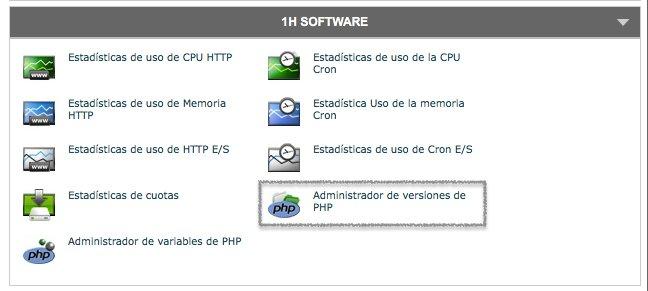 Como administrar la versión de PHP en el cPanel de SiteGround donde podremos consultar y actualizar la versión de PHP