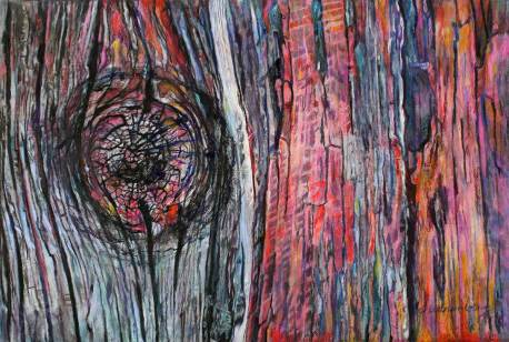 """The Wound that Heals 39"""" x 58.5"""" Mixed Media on Canvas"""