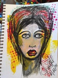 a photo of my first art journal face