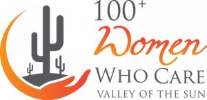The Logo for the 100+Women who Care organization