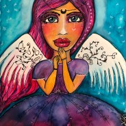 New Year Angel – The First Painting of the New Year