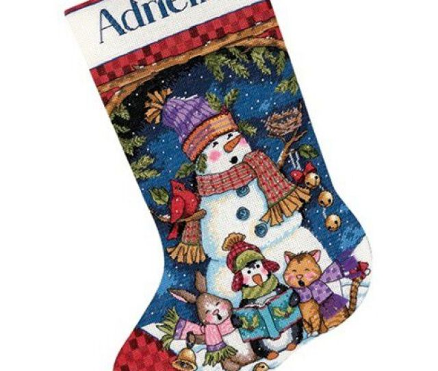 Dimensions Counted Cross Stitch Kit Cute Carolers Stocking