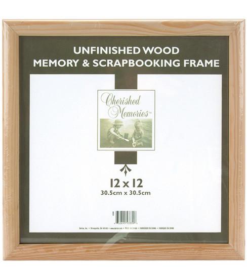 darice wooden memory frame