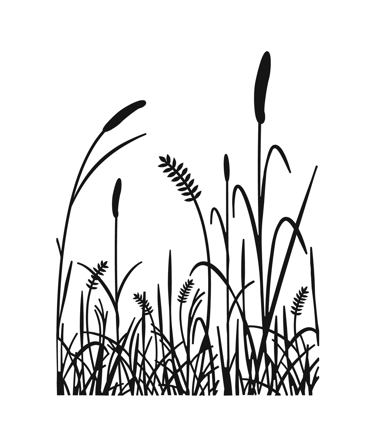 Embossing Folder 4 25 X5 75 Grass Silhouette