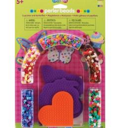 perler fuse bead activity kit cupcakes butterflies [ 1200 x 1360 Pixel ]