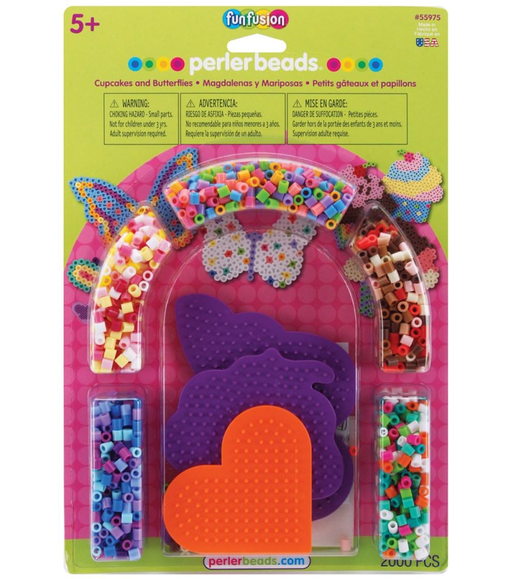 medium resolution of perler fuse bead activity kit cupcakes butterflies