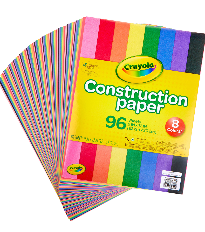 Crayola Construction Paper Pad 9 X12 96 Sheets