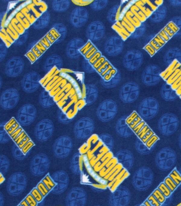 Denver Nuggets Fleece Fabric -logo Toss Joann
